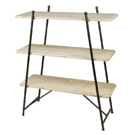 Wooden 3 Tiered Flat Shelf Display Rack