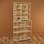 6 Shelf Wood Panel Bakers Rack
