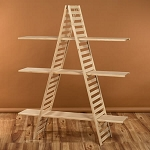 Wooden A-Frame 3-Shelf Rack