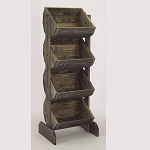 Wooden Barrel Rack Vegetable Bin - Color Choice Available