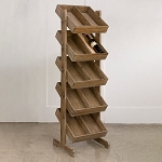 Wooden Bin Floor Display - 5 Tier