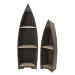 Nautical Wood Shelf Display - Set of 2