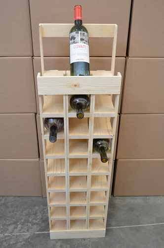 27 Bottle Wine Tower Display Retail Store Fixture Wine
