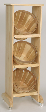 1/2 Bushel Rack With 3 Baskets