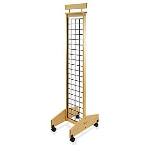 2-Sided Mobile Wood Gridwall Display-13""