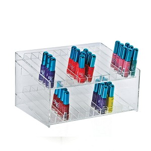 2 Tiered 24 Compartment Cosmetic Display