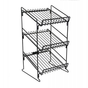 "3 Shelf Wire Counter Display Rack - 23""H"