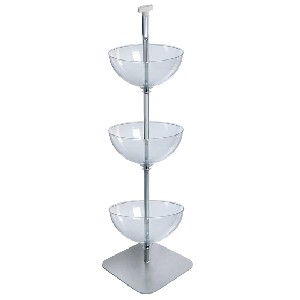 3 Tiered Bowl Floor Display - 16in