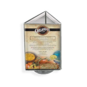 "3-Sided Sign Holder w/ Revolving Base - 5.5""W x 8.5""H"