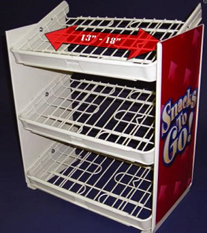 3 Tier Expandable Counter Rack With Side Panels