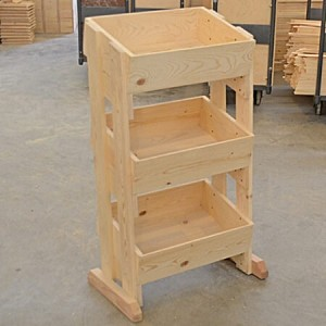 3 Tier Wooden Store Display