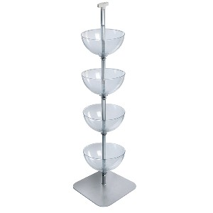 4 Tier Floor Bowl Display 14""