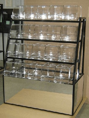 4 Tier Mirrored Candy Rack - Color Choice