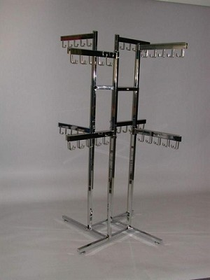 4-Way Handbag Tube Rack- 8 Faceout 5 Hook