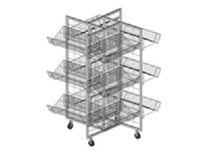 4-Way Merchandiser With Shelves