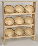 1 Peck Rack With 9 Baskets - Color Choice