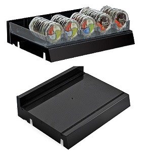 Black Modular Adjustable Tray - 2ct