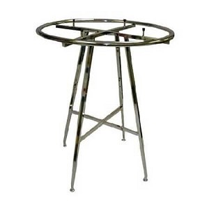 "42"" Folding Round Rack- Chrome- 1-1/4"" dia Tube"
