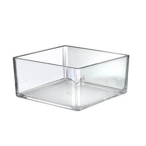 8in Clear Deluxe Square Bin - 4ct
