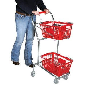 Double Hand Basket Shopping Cart