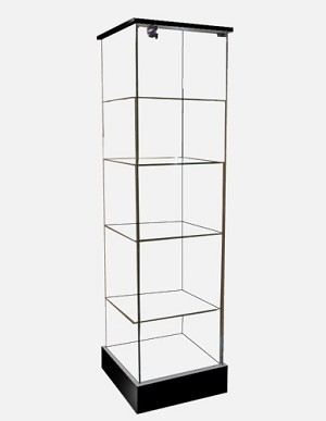 Frameless Glass Tower Display