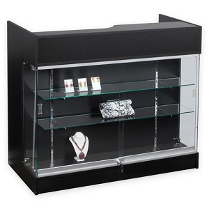 Ledgetop Counter With Showcase - 48""