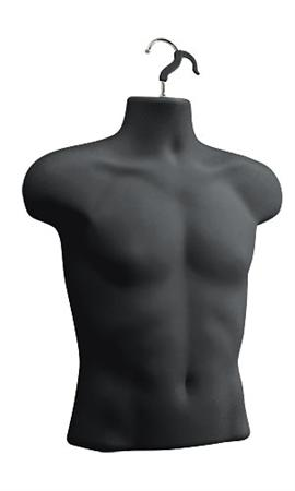 Mens Upper Torso Form - Black