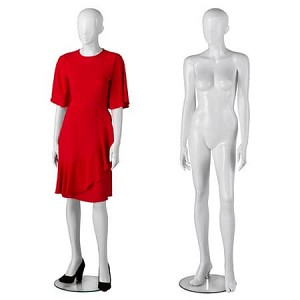 Premium Glossy White Female Full Body Mannequin