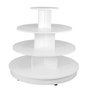 White 4 Tier Table with Casters