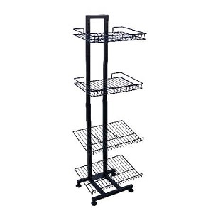 Adjustable Wire Floor Rack With Shelves