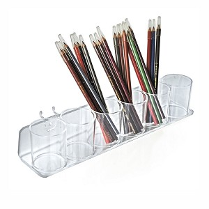 Acrylic Tray With 6 Display Cups - 2ct