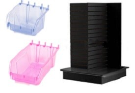 Black 4 Way Display With Containers