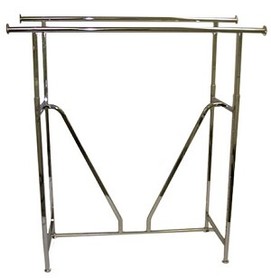 Black Double Bar Straight Rack - V-Brace