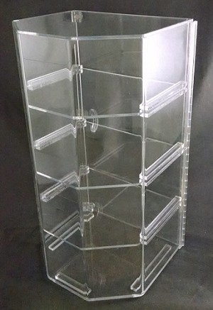 4 Shelf Clear Bakery Case