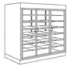 "Doughnut / Pastry Wall Case - Self Serve - 62"" - 80"" Wide"