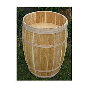 "False Bottom Cedar Display Barrel - 18""D x 30""H"