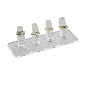 Acrylic Four Ring Display - 4ct