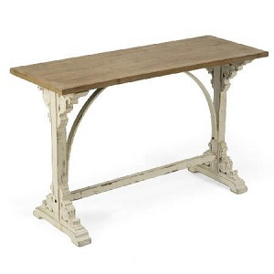 French Country Wood Display Table