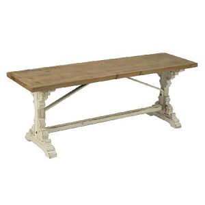 French Country Wooden Bench Table