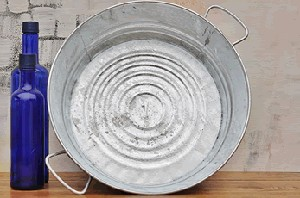 "Galvanized Harvest Pan  - 4.5"" - 3ct"