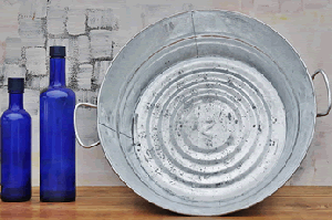 "Galvanized Wash Basin  - 5"" - 3ct"