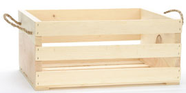Large Crates With Rope Handle - 2ct