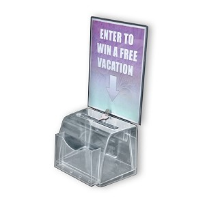 Medium Clear Molded Suggestion Box