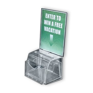 Medium Clear Molded Suggestion Box with pocket