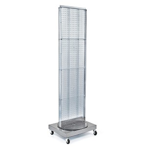 "Mobile Pegboard Floor Stand - 16"" x 66"""