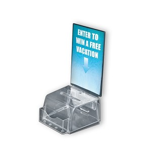 Small Clear Molded Suggestion Box with pocket